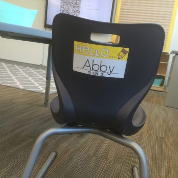 Name Tags for Student Chairs